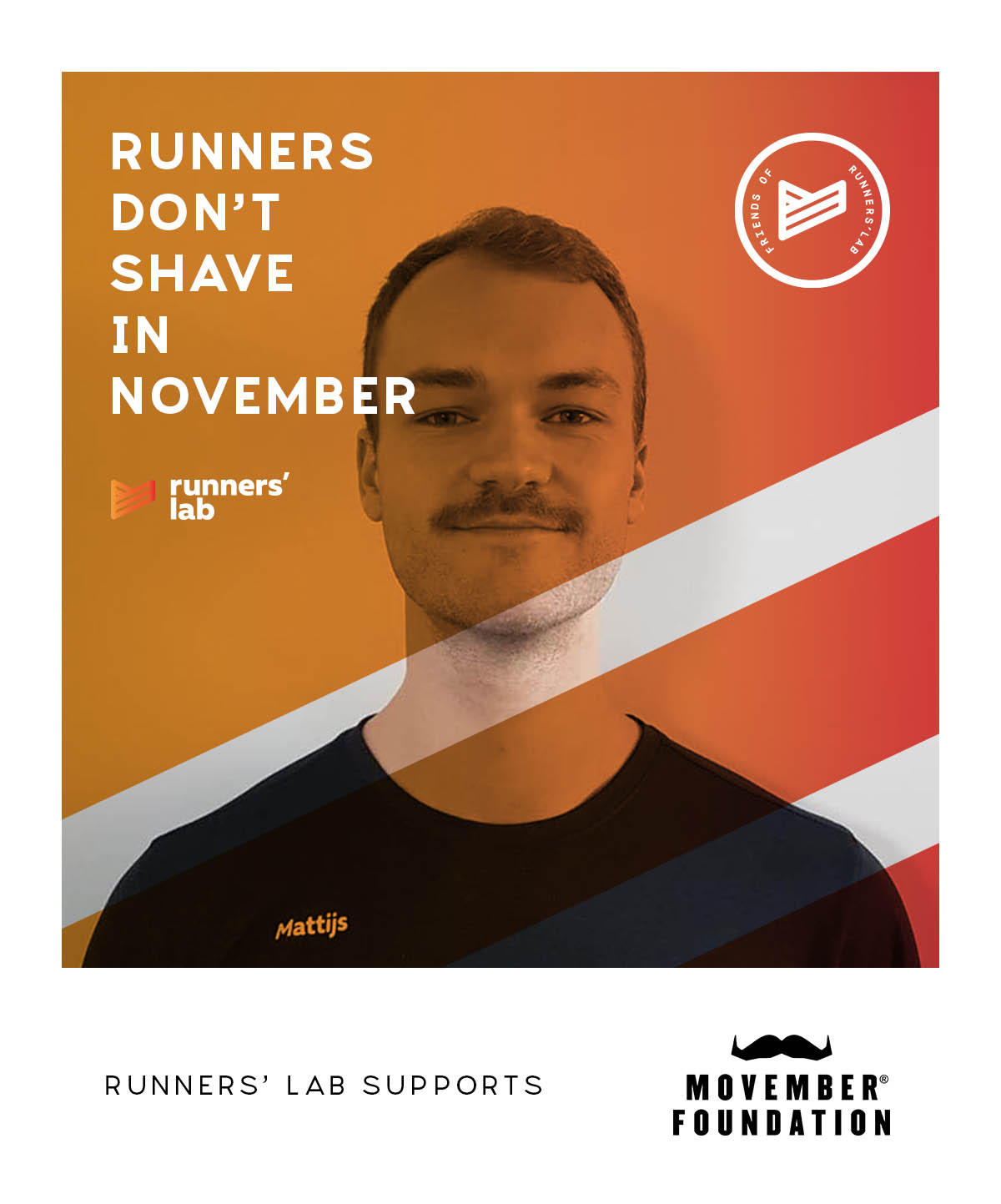 runners don't shave - MOVEMBER