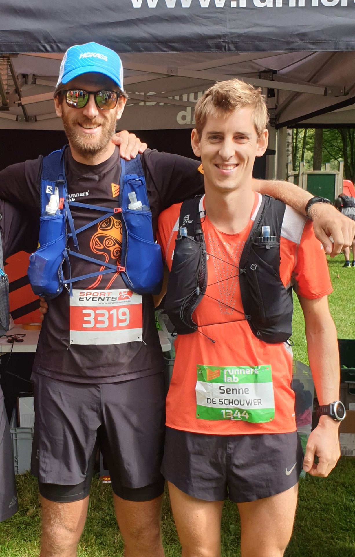 Team Runners' lab run Transalpine run 2019 - Nick en Senne